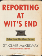 Reporting at Wit's End: Tales from The New Yorker