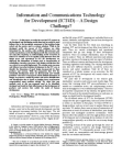Information and Communications Technology for Development