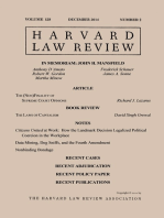 Harvard Law Review: Volume 128, Number 2 - December 2014
