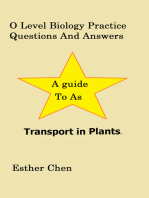 O Level Biology Practice Questions And Answers Transport In Plants