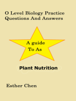 O Level Biology Practice Questions And Answers Plant Nutrition
