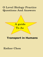 O Level Biology Practice Questions And Answers Transport In Human