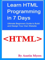Learn HTML Programming in 7 Days