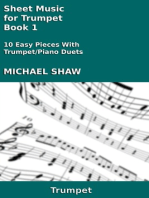 Sheet Music for Trumpet: Book 1