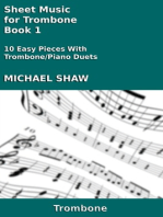 Sheet Music for Trombone