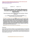 Research Study on Innovation and Customer Satisfaction in Service Organizations