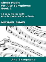 Sheet Music for Alto Saxophone: Book 1