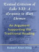 Textual Criticism of Luke 3:22