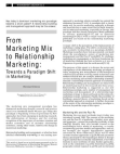 Project Study on Marketing Mix to Relationship Marketing