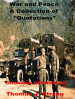 "War and Peace A Collection of ""Quotations"""