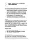 Research Project on Global Leadership and Organizational Behavior Effectiveness