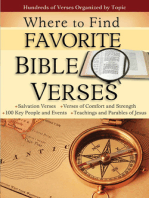 Where to Find Favorite Bible Verses