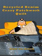 Recycled Denim Crazy Patchwork Quilt