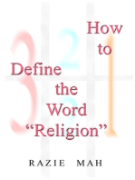 "How To Define the Word ""Religion"""