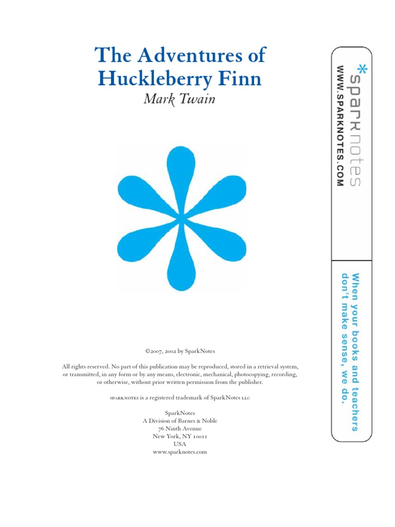 "an analysis of the book the adventures of huckleberry finn An analysis of huckleberry finn by mark twain ernest hemingway wrote, 'huckleberry finn is the novel from which ""all modern american literature comes."