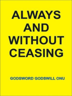 Always and Without Ceasing