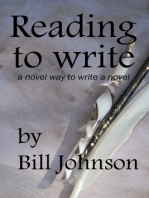 Reading To Write, a Novel Way to Write a Novel