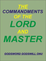 The Commandments of the Lord and Master