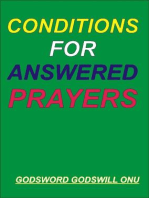 Conditions for Answered Prayers