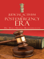 Judicial Activism in Post-Emergency Era