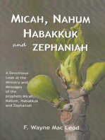 Micah, Nahum, Habakkuk and Zephaniah