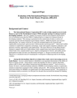 Approach Paper - Evaluation of the International Finance Corporation