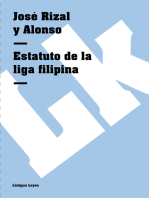 Estatuto de la liga filipina