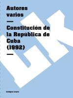 Constitución de la República de Cuba (1992)