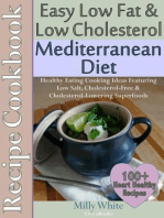 Easy Low Fat & Low Cholesterol Mediterranean Diet Recipe Cookbook 100+ Heart Healthy Recipes (Health, Nutrition & Dieting Recipes Collection, #1)