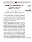 Relationship Marketing - Consumer Markets