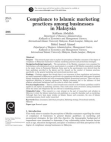 Research Paper on Compliance to Islamic Marketing Practices Among Businesses in Malaysia
