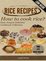 RICE RECIPES - How to cook rice?