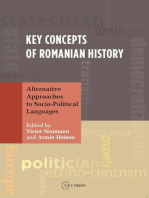 Key Concepts of Romanian History: Alternative Approaches to Socio-Political Languages