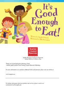 It's Good Enough to Eat!