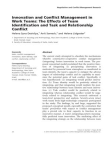 Conflict Management Research  on Innovation and Conflict Management in Work Teams