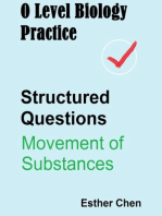 O Level Biology Practice For Structured Questions Movement Of Substances