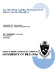 Research proposal on working capital management effect on profiatbality