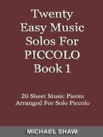 Twenty Easy Music Solos For Piccolo Book 1