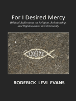 For I Desired Mercy