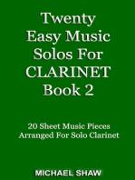 Twenty Easy Music Solos For Clarinet Book 2