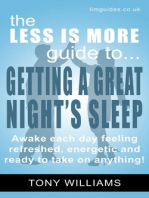 Getting a Great Night's Sleep