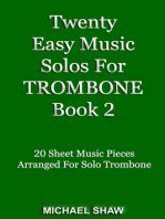 Twenty Easy Music Solos For Trombone Book 2