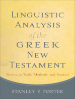 Linguistic Analysis of the Greek New Testament
