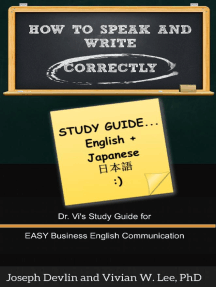 How to Speak and Write Correctly: Study Guide (English + Japanese)