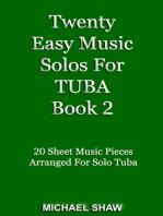 Twenty Easy Music Solos For Tuba Book 2