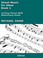 Sheet Music for Oboe