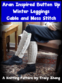 Aran Inspired Button Up Winter Leggings Cable & Moss Stitch