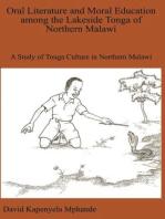 Oral Literature and Moral Education among the Lakeside Tonga of Northern Malawi