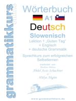 """Wörterbuch Deutsch - Slowenisch A1 Lektion 1 """"Guten Tag"""""""