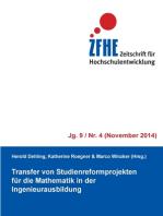 Transfer von Studienreformprojekten für die Mathematik in der Ingenieurausbildung